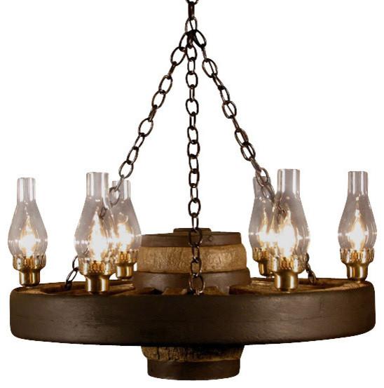 Faux wagon wheel chandelier rustic chandeliers by muskoka faux wagon wheel chandelier rustic chandeliers mozeypictures Gallery
