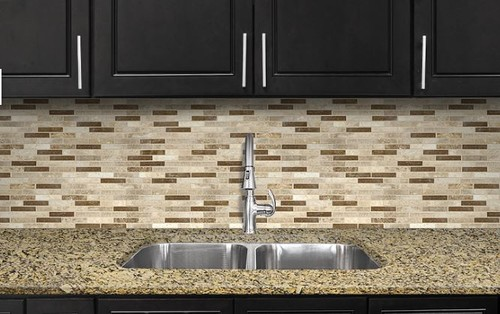 which granite backsplash combination