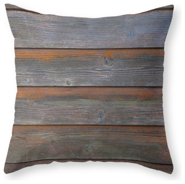 Society6 Rustic Wood Panel, Throw Pillow - Contemporary - Decorative Pillows - by Society6