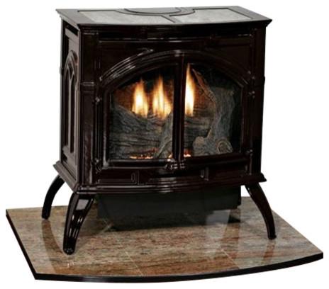 Heritage Cast Iron Porcelain Black Stove Vfd30cc30bn, Natural Gas.