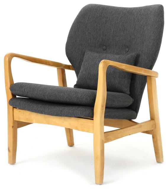 Surprising Gdf Studio Helena Mid Century Modern Fabric Club Chair Dark Slate Machost Co Dining Chair Design Ideas Machostcouk