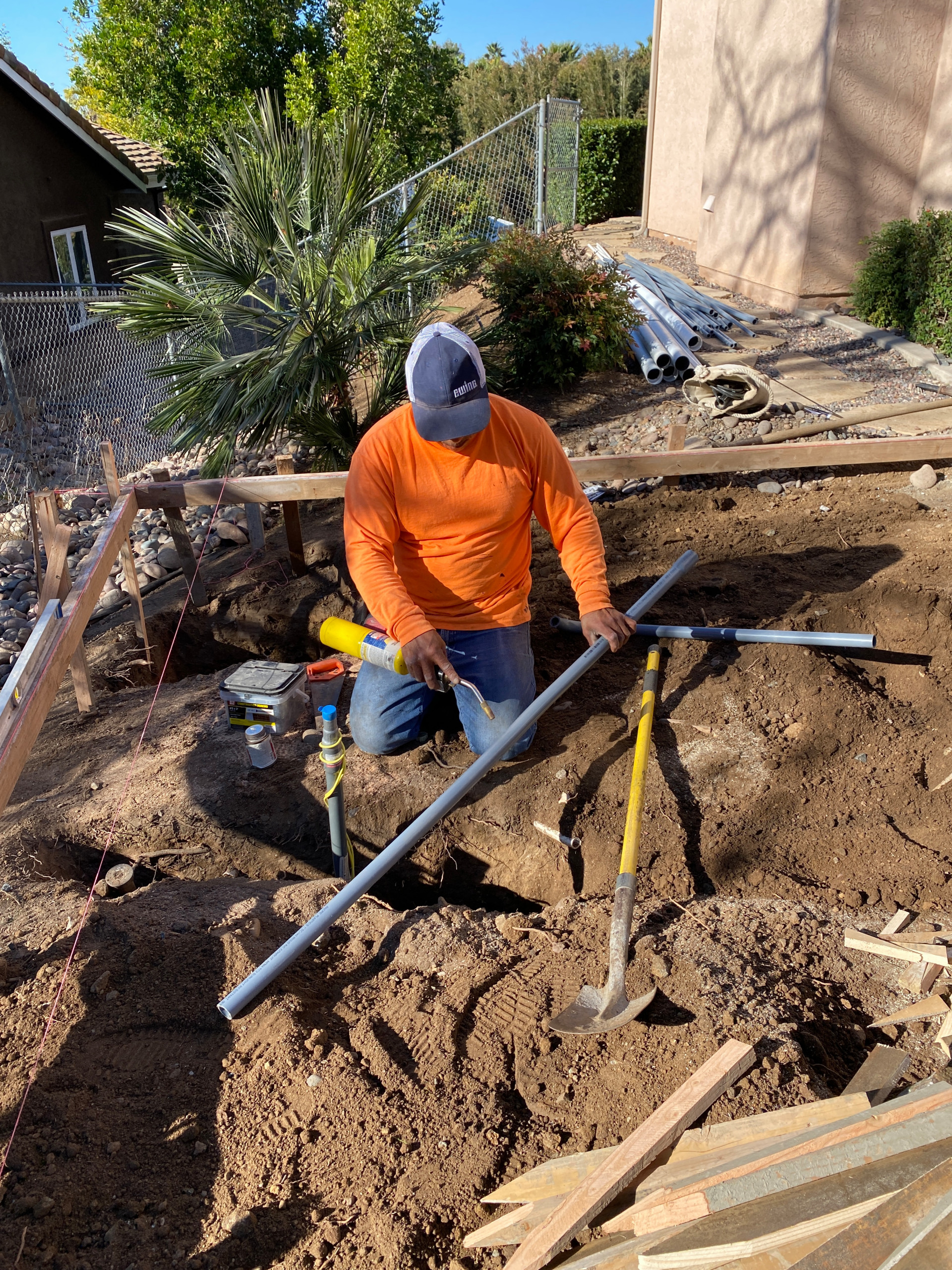 Installing Electrical Conduit for BBQ Island