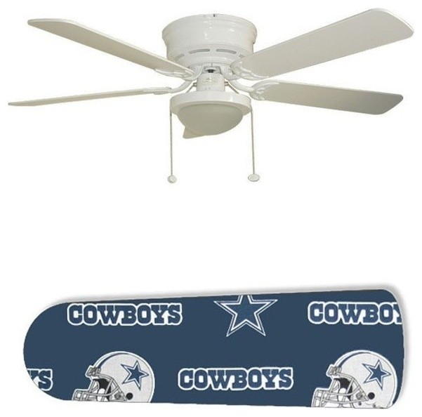 Dallas Cowboys Helmet 52 Ceiling Fan With Lamp