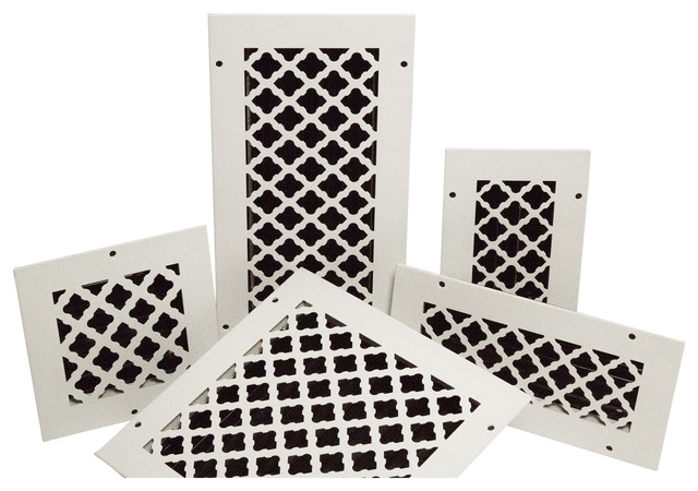 """Solid Steel Return Vent Cover, White, Fits Duct Opening 12""""x2.25""""."""