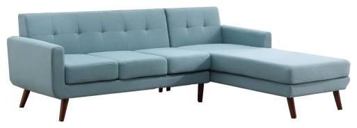 Kd Sherri Fabric Sectional Midcentury Sectional Sofas By Kd