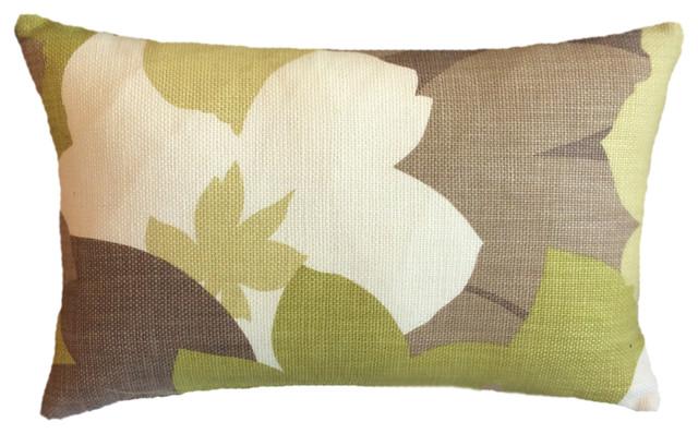 Large Mixed Chartreuse Brown Cream Floral Lee Decorative Lumbar Gorgeous Chartreuse Pillows Decorative
