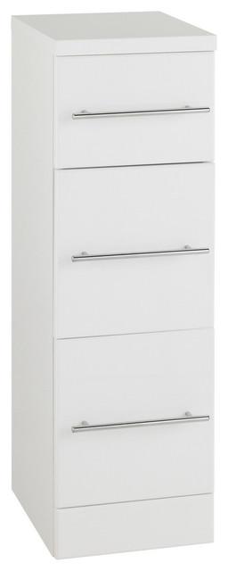 White 3-Draw Storage Unit, 250x300 mm