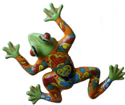Rainbow Ceramic Talavera Frog