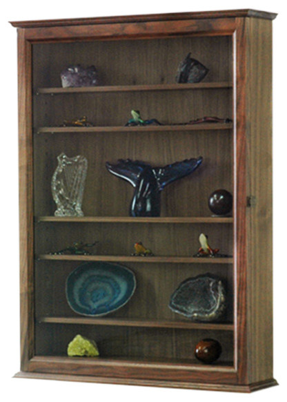 Curio Wall Cabinet Traditional China Cabinets And