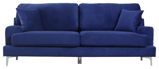 Madrid Taupe Beige Ultra Modern Living Room Furniture 3: Ultra Modern Plush Velvet Living Room Sofa