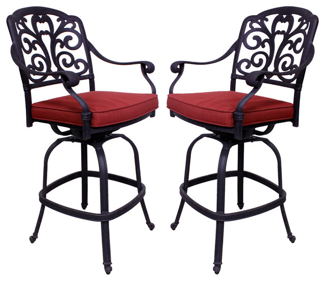 Vienna Barstool, Set Of 2, With Cushion.