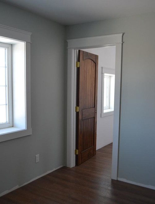 Wood doors with white trim for Wood doors painted white