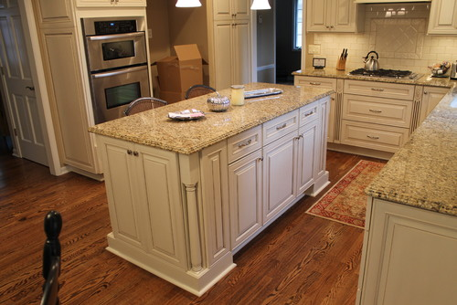 Giallo Napoli Granite Kitchen Countertops White Cabinets
