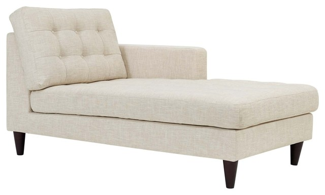 Empress Right-Arm Upholstered Fabric Chaise.