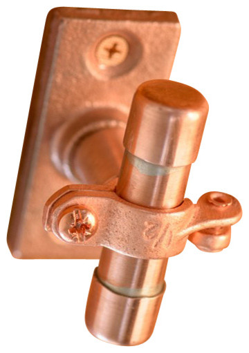 Small Industrial Copper Cabinet Handle (Surface Mount) - Industrial - Cabinet And Drawer Knobs ...