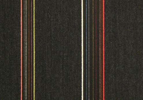 Heringbone Stripes by Paul Smith Graphite Fabric