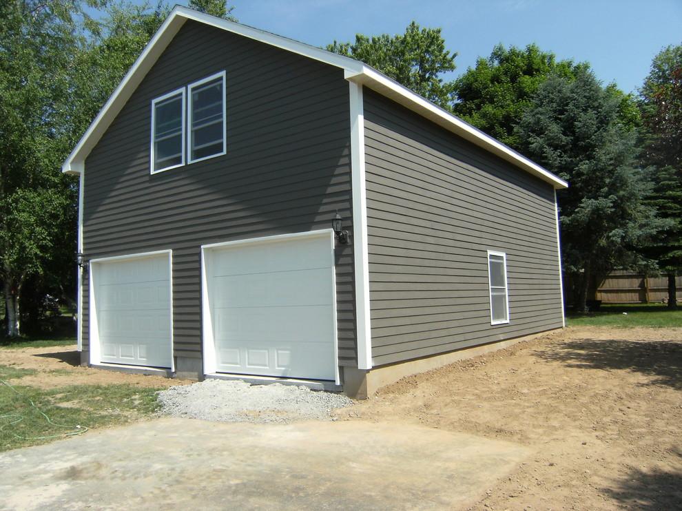 2 Story Vaulted Garage Design Build