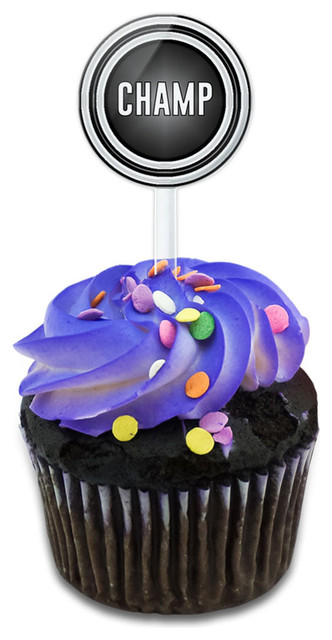 Champ You Are A Winner Cupcake Toppers Picks Set.