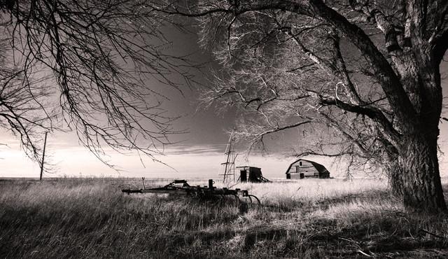 Abandoned Farm Old Barn Oklahoma Fine Art Black And White Photography Limited Ed
