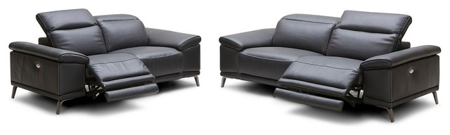Giovanni Premium Italian Leather Sofa Set With Recliners Contemporary Living Room Furniture
