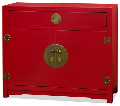 Elmwood Chinese Red Ming Cabinet