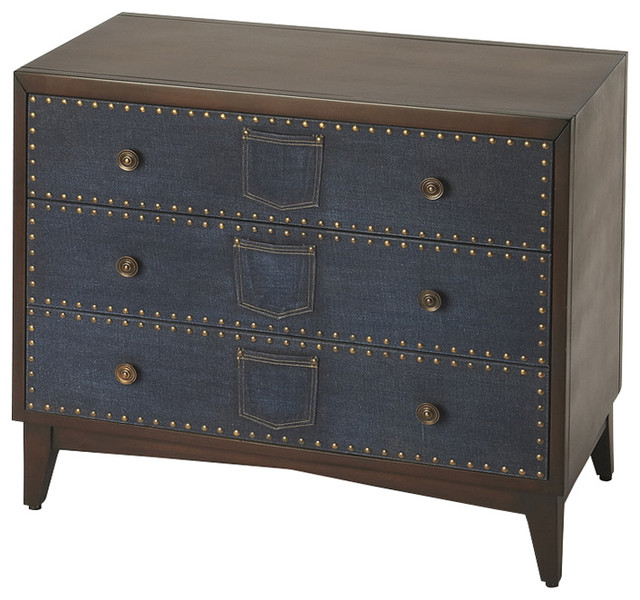 Lindor Denim Console Chest - Eclectic - Accent Chests And Cabinets - by HedgeApple