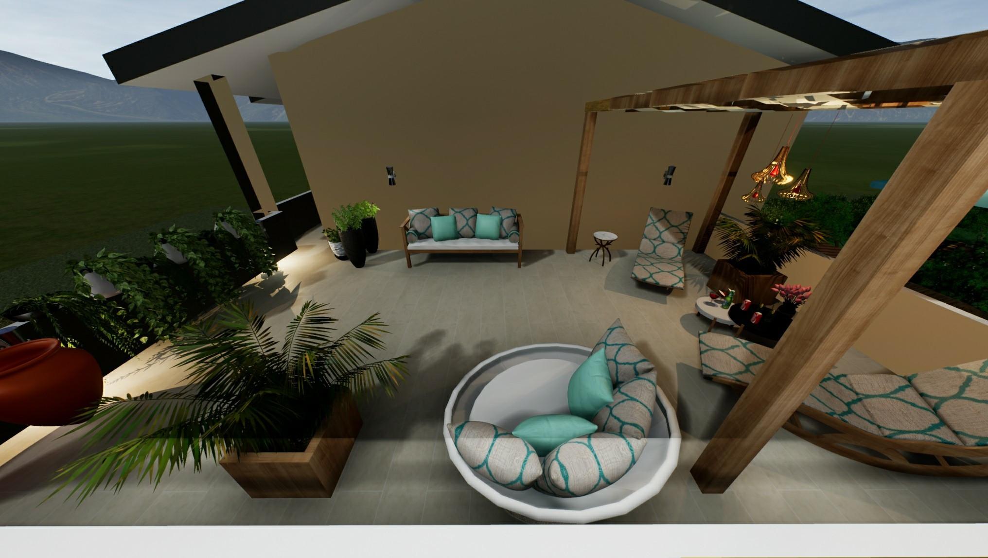 sistemazione terrazzo in villa