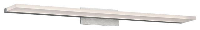 "WAC Lighting Level 36""LED Bath Vanity & Wall Light in Brushed Aluminum"
