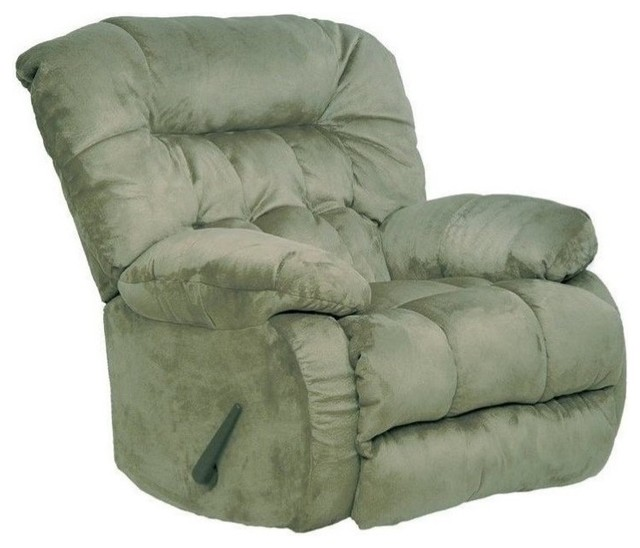 Pemberly Row Oversized Rocker Recliner Chair in Sage by Pemberly Row