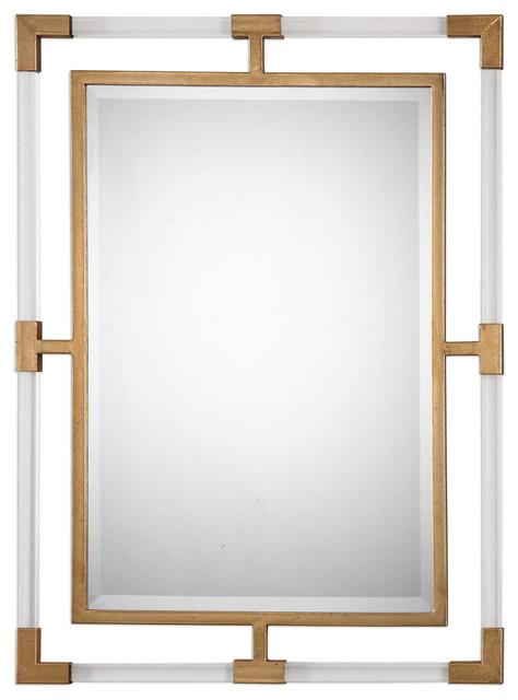 Uttermost Balkan Modern Gold Wall Mirror. -1
