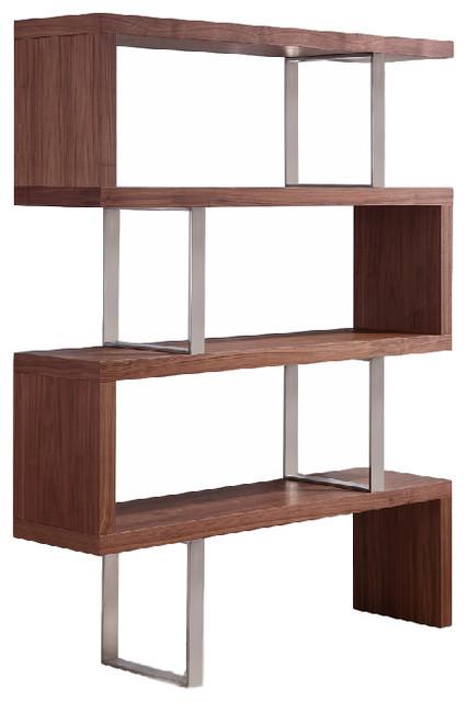 Scala Collection Bookcase By Talenti Casa Walnut Veneer Contemporary Bookcases