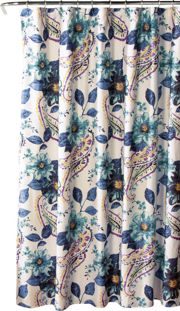 Curtains Ideas blue paisley shower curtain : Lush Decor Floral Paisley Shower Curtain Blue - Shower Curtains ...