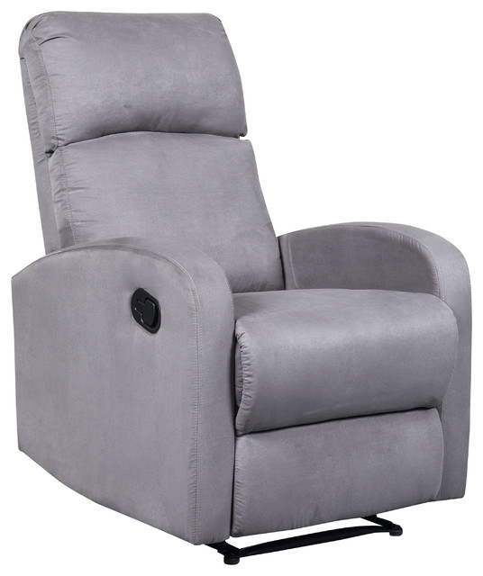 Terrific Artiva Usa Modern Home Slim Design Microfiber Recliner Gray Bralicious Painted Fabric Chair Ideas Braliciousco