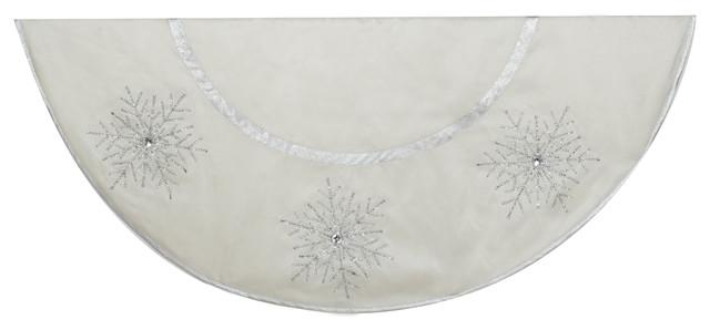 Crystal Snowflake Tree Skirt