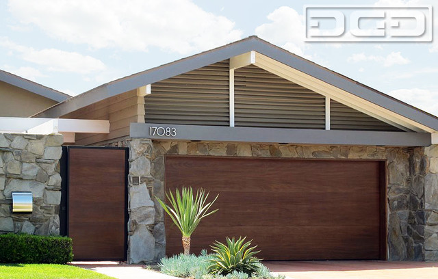 Custom Designed Mid Century Modern Style Garage Door