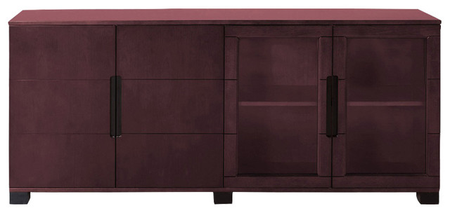 ... Hayes Cabinet, Mahogany With Glass Doors - Filing Cabinets | Houzz