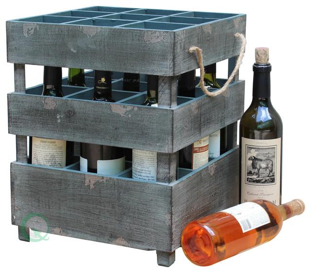 antique style stackable wooden wine crates - Wooden Wine Rack