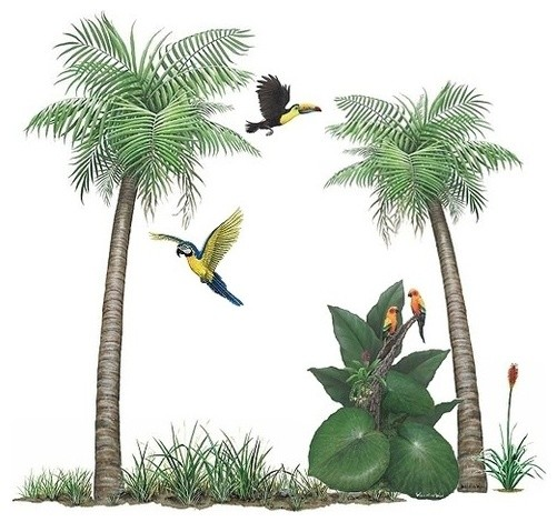 palm tree sticker mural wall decal traditional wall