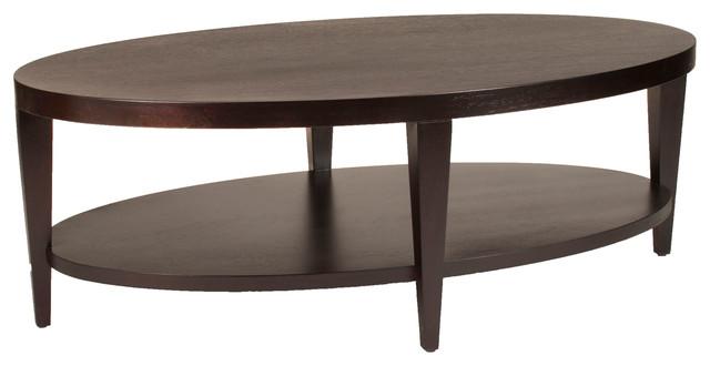 Marla Oval Cocktail Table Espresso On Birch Coffee Tables By Allan Copley Designs