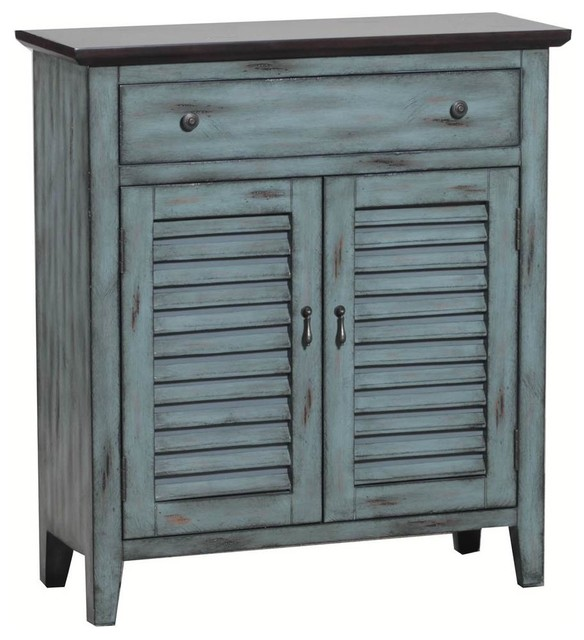 2 Tone Shutter Door Cabinet beach-style-accent-chests-and-cabinets  sc 1 st  Houzz & 2 Tone Shutter Door Cabinet - Beach Style - Accent Chests And ... pezcame.com