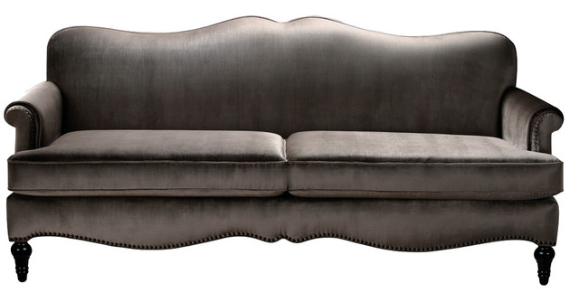 Woodbury Camelback Sofa Gray