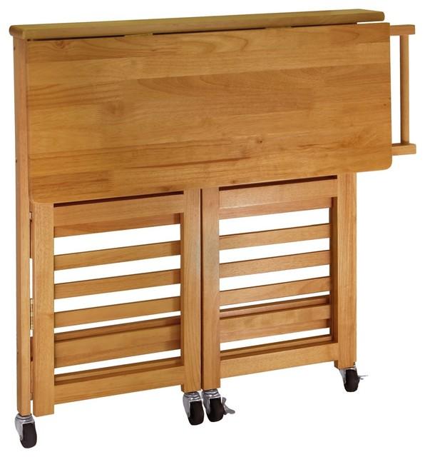 Winsome   Winsome Wood Foldable Kitchen Cart With Light Oak Finish X 73143    Kitchen