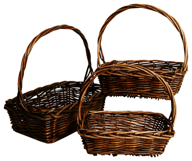 Wald Imports Brown Willow 11 Decorative Storage Basket