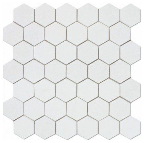 Thos Marble Hexagon Tile Polished