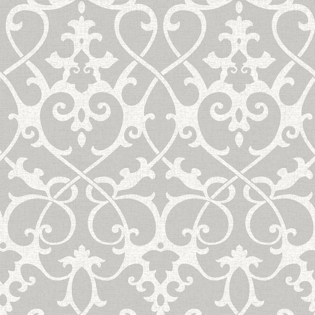 ironwork grey peel and stick wallpaper - industrial - wallpaper