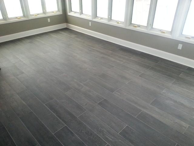 Sunroom Plank Tile Floor Traditional Sunroom New