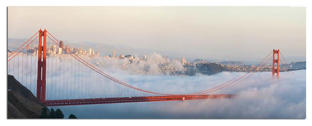 Tempered Glass Wall Art, San Francisco Golden Gate Bridge 3 ...
