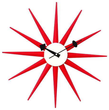 Sunburst Clock Midcentury Wall Clocks By Stilnovo