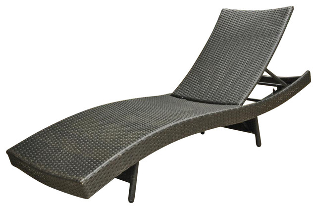 Shop houzz wicker resin aluminum multi position patio for Adams 5 position chaise lounge white