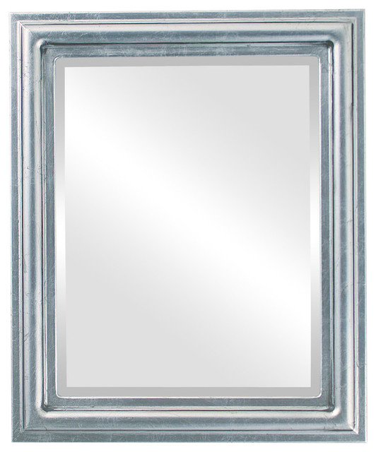 efa6c1645458 Philadelphia Framed Rectangle Mirror in Silver Leaf with Black Antique -  Traditional - Wall Mirrors - by The Oval   Round Mirror Store